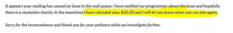 USA lead club scam account refund