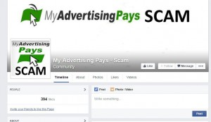 my advertising pays is a scam facebook